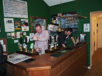 Hard at work behind the bar